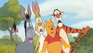 Winnie the Pooh Tigger Rabbit and Eeyore saw the Bees