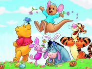 Pooh Wallpaper - Springtime with Roo