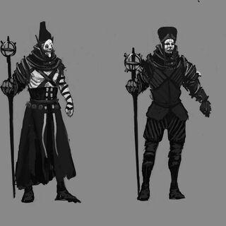 Concept thumbnails for Caranthir's gear.