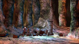 Geralt attiva il portale nella base di Salamandra