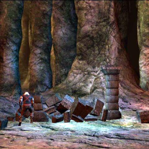 Geralt uruchamia portal Alvaro