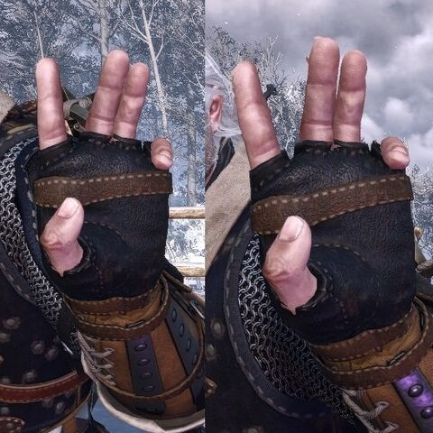 Quen's casting gesture in <i>The Witcher 3</i>.