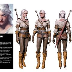 Ciri as portrayed in the Wild Hunt.