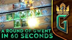 GWENT THE WITCHER CARD GAME A round of GWENT in 60 seconds