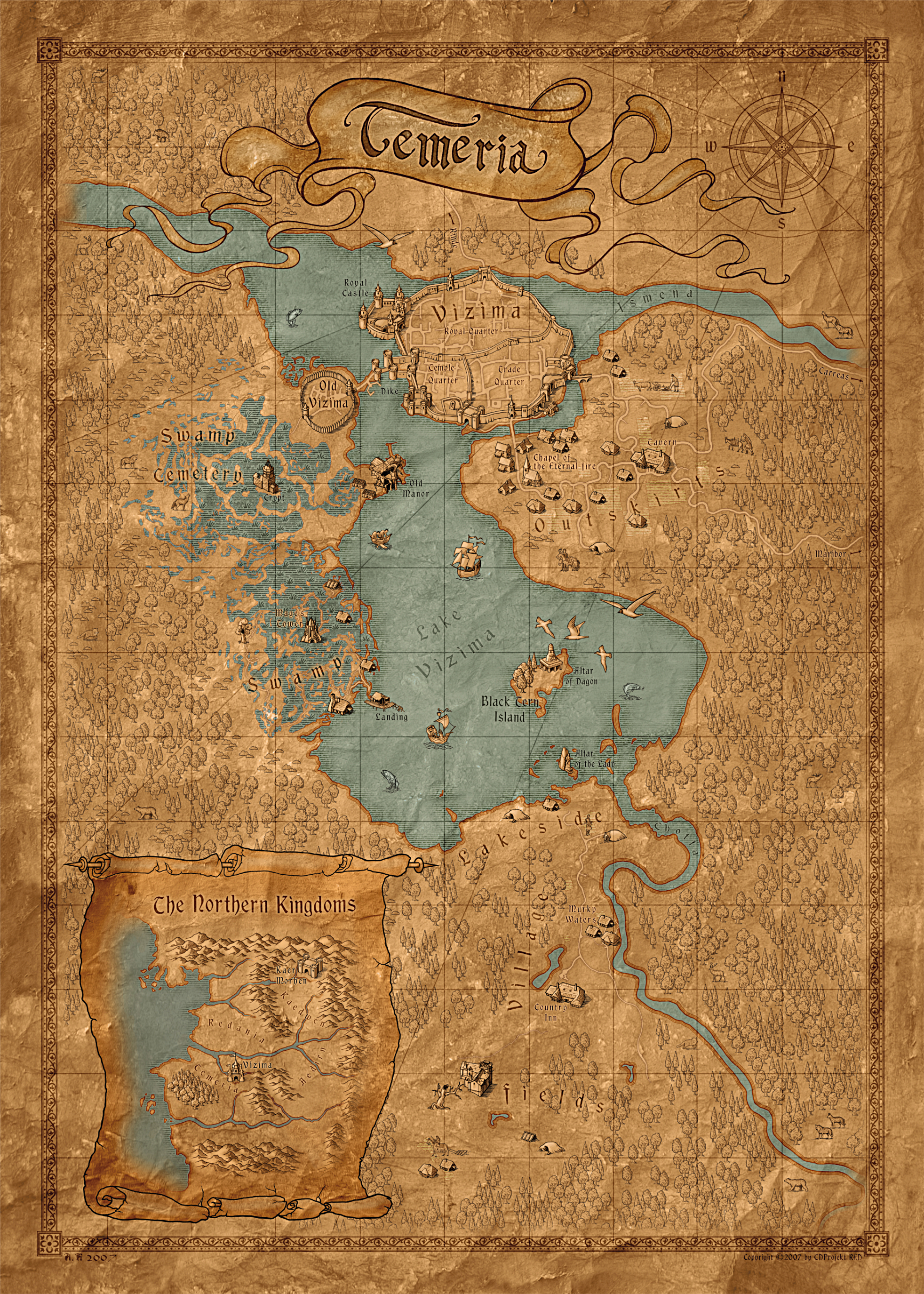Any game maps that show where events from the books took place httpvignette1acookiewitcherimages226gameworldmapgrevisionlatestcb20160707172750 gumiabroncs Image collections
