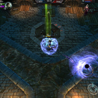 Openning portal in the Battle Arena.