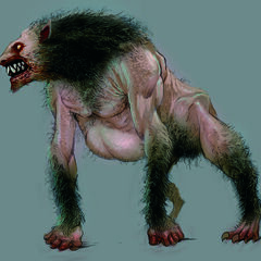 The colors emphasize the monster's thick fur