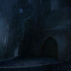 Miller's gate at night concept painting