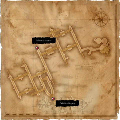 Map of the sewers
