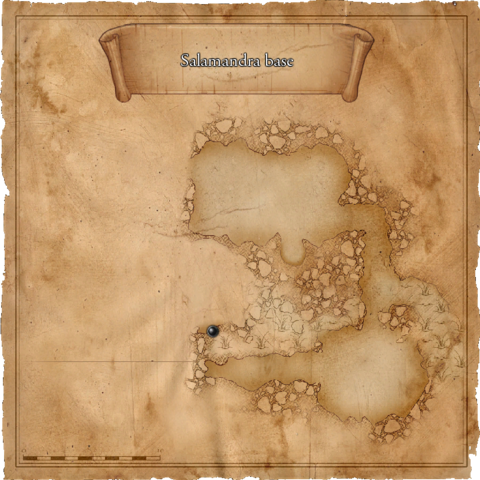 Map of the second level of the Salamandra Base