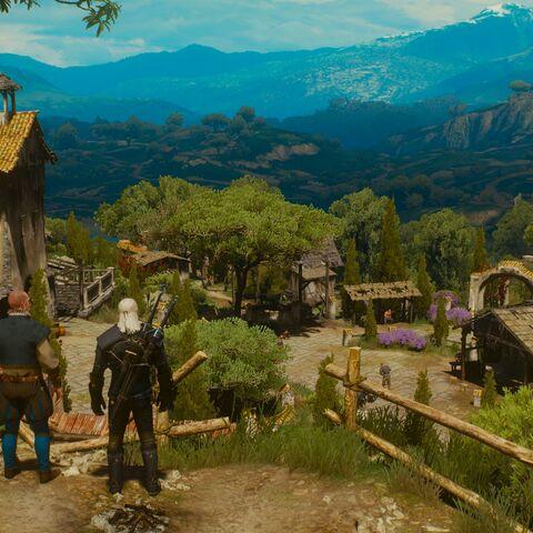 Majordomo introducing Geralt to his estate.
