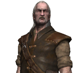 Vesemir full render as in <i>The Witcher</i>.