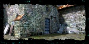 Krypta na hřbitově