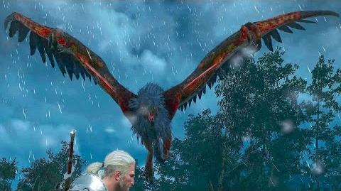 The Witcher 3 Opinicus the Archgriffin Boss Fight (Hard Mode)