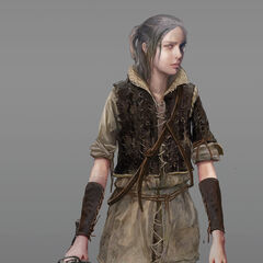 Children Ciri finalized concept art