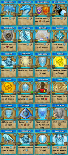 All Ice Spells