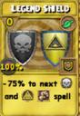 Legend Shield Treasure Card