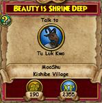Beauty is Shrine Deep - MooShuQuests