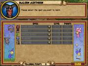 Malorn Ashthorn Trainable Spells