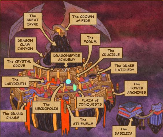 Dragonspyre Map