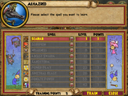 Alhazred Trainable Spells