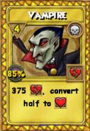 Vampire Treasure Card