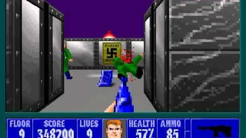 Spear Of Destiny 3 - Ultimate Challange - Floor 10 (Middle Bunker Area 4) Part 1