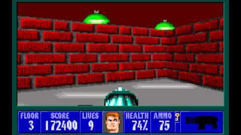 Wolfenstein 3D (id Software) (1992) Episode 4 - A Dark Secret - Floor 3 HD