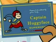 Captain Huggyface card held by Granny May in Coupon Madness