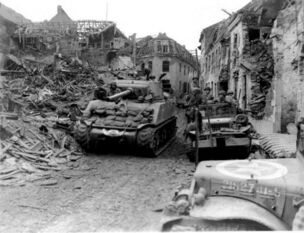 CCB of the 7th US Armored Division withdrawing from St. Vith, December 1944
