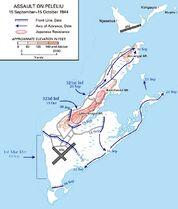 Battle of Peleliu Map
