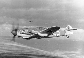 Bf 109 in flight 1943