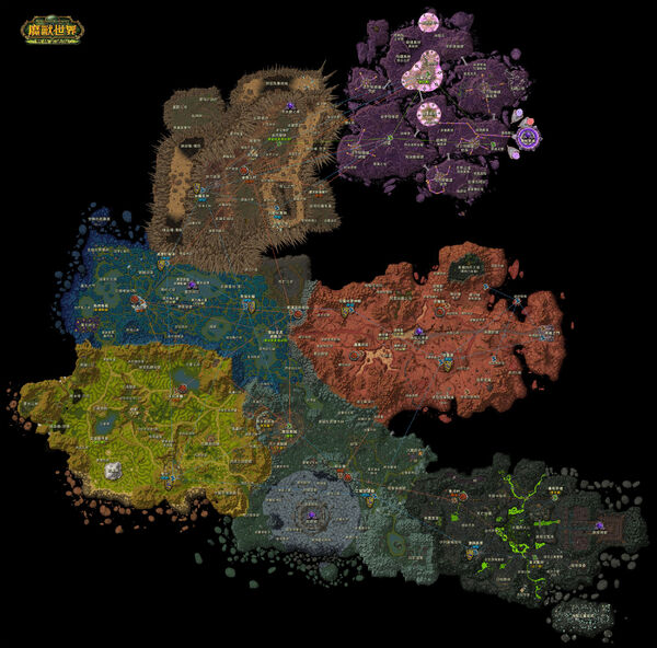 WOW Outland Map