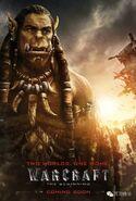 Warcraft movie poster - Durotan