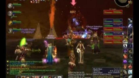 WoW Tyraenny Kill Molten Core - Garr