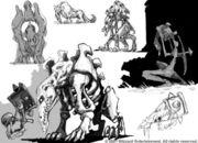 Undead beast art