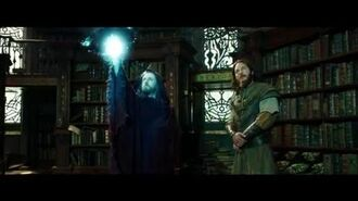 "WARCRAFT Movie Clip ""Medivh Finds Khadgar Snooping In The Library"" - Ben Foster, Ben Schnetzer"