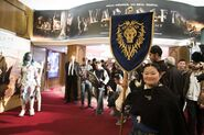 Warcraft movie premiere-France-elf alliance banner