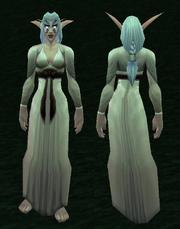 White Woolen Dress