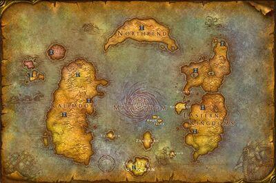 Ramtaks fake Azeroth New World Map