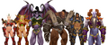 Lor'themar Kael'thas Illidan Garrosh Varian and Velen in Plate Bikini.png
