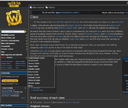 Wowwiki leftmenu