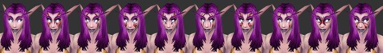 NightElf Female Facialfeatures