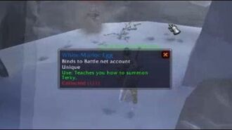 World of Warcraft - Terky location - New pet White Murloc Egg
