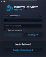 Battle.net app-Beta-Login