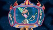 S1e9b Wander singing on the jumbotron
