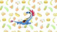 S1e15b Sylvia running on a food backdrop