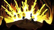 S1e17a Wander and Sylvia sees lava splash