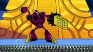 S1e2a The Picnic - Hater robot posing 3