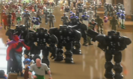 The Troops are in Game Central Station